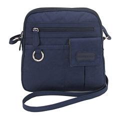 St. John's Bay North South Mini Zip Around Crossbody Bag