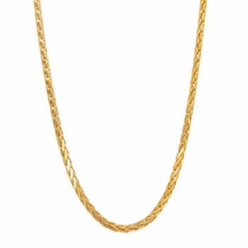 Fine Jewelry Infinite Gold 14K Yellow Gold 30 Glitter Solid Rope Chain VZsjGS5bp