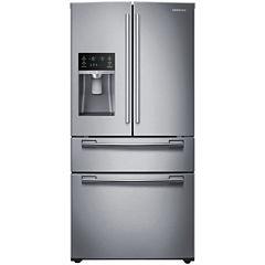 """Samsung ENERGY STAR® 25 cu. ft. 33"""" Wide 4-Door French Door Refrigerator"""