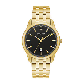 Bulova Classic Mens Gold Tone Stainless Steel Bracelet Watch - 97b194