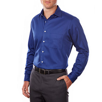 Van Heusen Lux Sateen Stretch Long Sleeve Dress Shirt