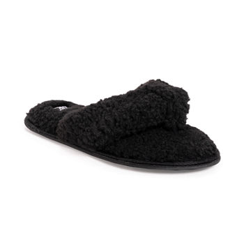 Muk Luks Taryn Thong Womens Slip-On Slippers