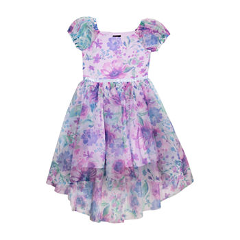 Lilt Little & Big Girls Short Sleeve Fit & Flare Dress