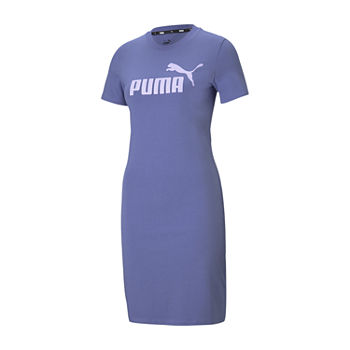 Puma Essentials Short Sleeve Logo T-Shirt Dress