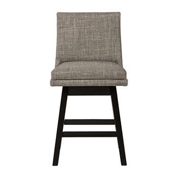Signature Design by Ashley Tallenger 2-pc. Counter Height Upholstered Swivel Bar Stool