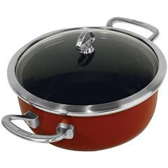 Chantal® Copper Fusion® 4-qt. Covered Risotto Pan