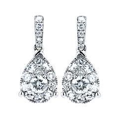 Brilliant Dream™  ½ CT. T.W. Diamond Cluster Pear Drop Earrings