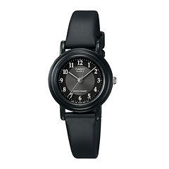 Casio® Womens Black Resin Strap Watch LQ139A-1B3OS