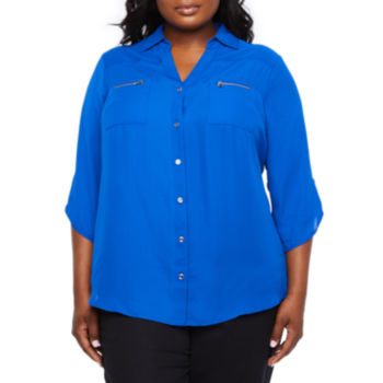 Plus Size Blouses Trendy Collections For Women Jcpenney