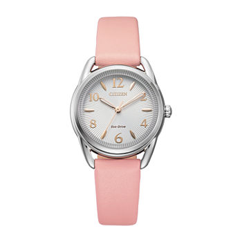 Drive from Citizen Womens Pink Leather Strap Watch-Fe1210-07a