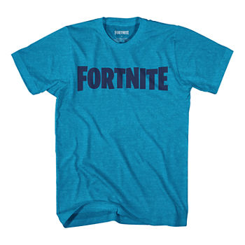 Big Boys Crew Neck Fortnite Short Sleeve Graphic T-Shirt