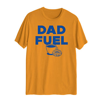 Dad Fuel Mens Crew Neck Short Sleeve Graphic T-Shirt