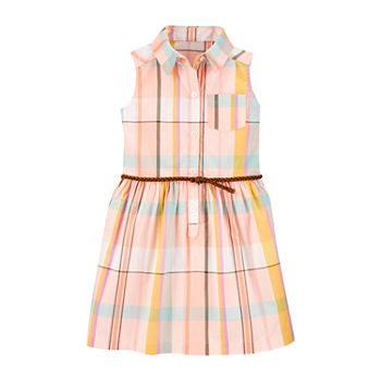 Carter's Toddler Girls Sleeveless Plaid A-Line Dress