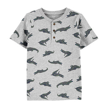 Carter's Little & Big Boys Short Sleeve Henley Shirt