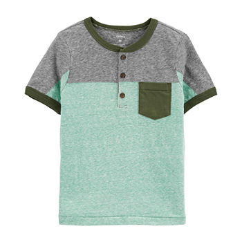 Carter's Toddler Boys Short Sleeve Henley Shirt