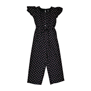 Lilt Little & Big Girls Short Sleeve Jumpsuit