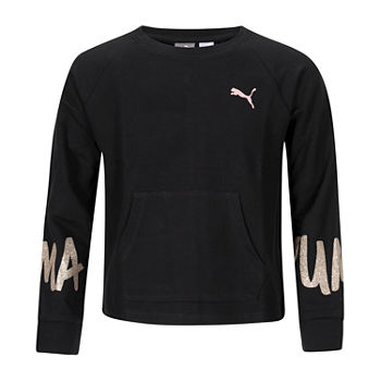 Puma Big Girls Crew Neck Long Sleeve Sweatshirt