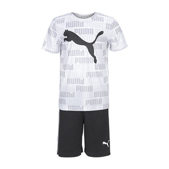 Puma Sp21 Boys 4-7 Little Boys 2-pc. Short Set