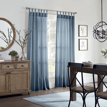 Linden Street Naturals 3-Ways To Hang Light-Filtering Rod-Pocket Single Curtain Panel