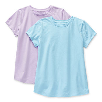 Arizona Little & Big Girls 2-pc. Round Neck Short Sleeve T-Shirt