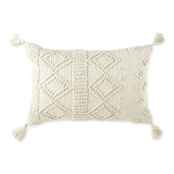 Linden Street Nubby Diamond Oblong Throw Pillow