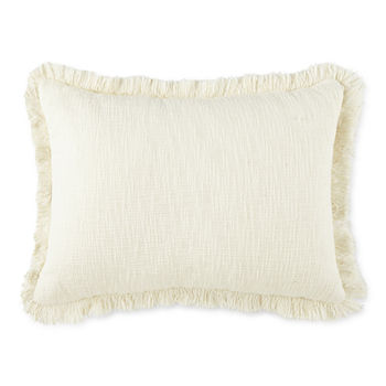 Linden Street Solid Texture Slub Oblong Throw Pillow