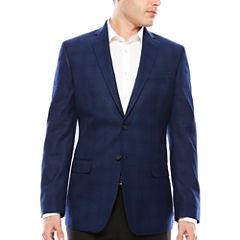Claiborne Slim Fit Woven Plaid Sport Coat