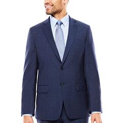 Claiborne Plaid Slim Fit Stretch Suit Jacket-Slim