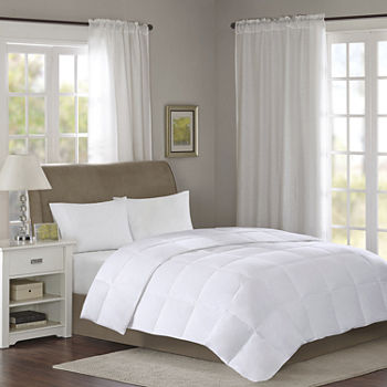 True North by Sleep Philosophy Level 2 300 Thread Count Cotton Sateen White Down Comforter with 3M Scotchgard