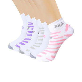 Fila 6 Pair Quarter Socks Womens