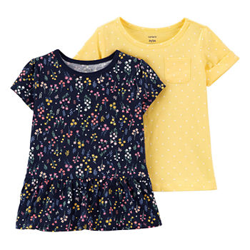 Carter's Toddler Girls 2-pc. Round Neck Short Sleeve T-Shirt