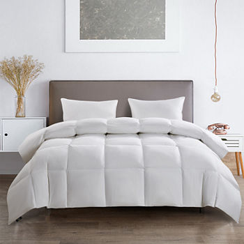 Serta 233 Thread Count Light Warmth White Goose Feather And Down Fiber Comforter