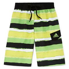 Adidas Boys Pattern Swim Trunks-Big Kid