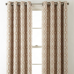 Home Expressions Pasadena Print Blackout Grommet-Top Curtain Panel