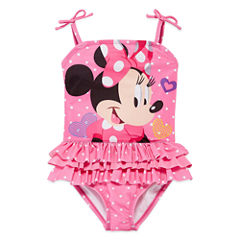 Disney Minnie Mouse One Piece Swimsuit Toddler Girls