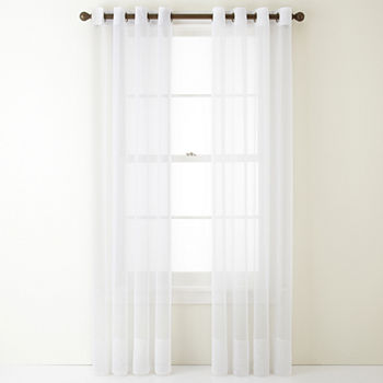 Grommet White Sheer Curtains For Window Jcpenney