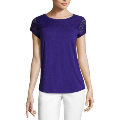 Purple One Shoulder Tunic