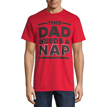 Dad Needs A Nap Mens Crew Neck Short Sleeve Graphic T-Shirt