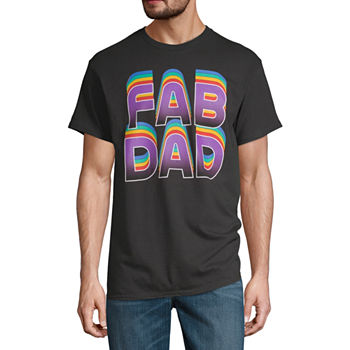 Fab Dad Mens Crew Neck Short Sleeve Graphic T-Shirt