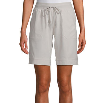 "St. John's Bay Womens Mid Rise Adjustable Waist 9 3/4"" Bermuda Short-Tall"