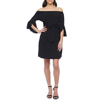 Bold Elements 3/4 Sleeve Shift Dress