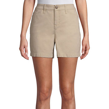 "St. John's Bay Womens 5"" Chino Short-Tall"