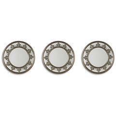 Set of 3 Metallic Starburst Mirrors
