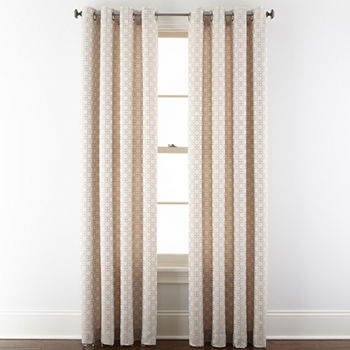 Studio Light-Filtering Grommet-Top Single Curtain Panel