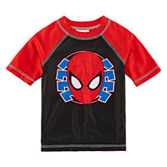Boys Spiderman Rash Guard-Toddler