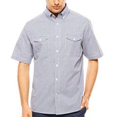 ARGYLECULTURE Short Sleeve Button-Front Shirt