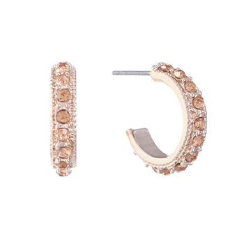 Monet Jewelry Orange 15 2mm Hoop Earrings