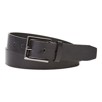 Mixit™ Hematite Buckle Leather Belt