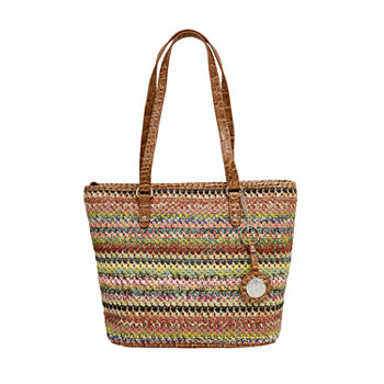 Bueno of California Straw Mid Tote Bag