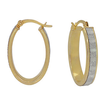 14K Gold Over Silver 27mm Round Hoop Earrings